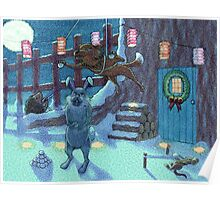 midnight snowball fight Poster