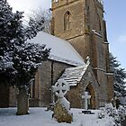 Snow covered church in Dorset by chris-csfotobiz