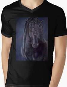 Friesian Glamour Mens V-Neck T-Shirt