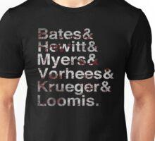 Horror Icon List Bloody Unisex T-Shirt