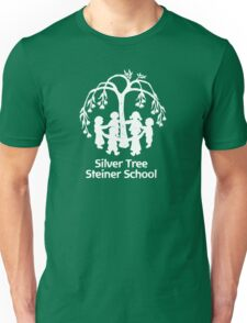 Adult T-shirt large white Silver Tree logo T-Shirt