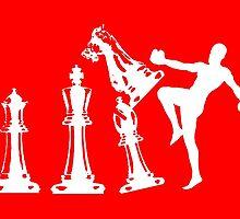 Kickboxing Chess Knee White  by yin888