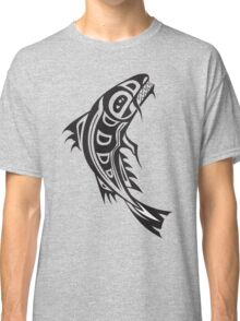 Northwest Native Indian fish totem (vertical) Classic T-Shirt