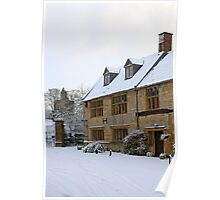 English period homes covered in snow Poster