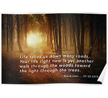 """steve Jobs - """"The Light through the Trees"""" Artwork Poster"""