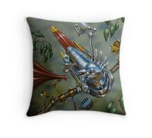 'Crested Chinese Google Bird'  Throw Pillow