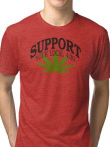Marijuana 420 Tri-blend T-Shirt