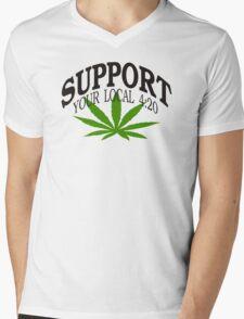 Marijuana 420 Mens V-Neck T-Shirt
