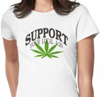 Marijuana 420 Womens Fitted T-Shirt
