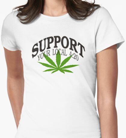 Marijuana 420 Womens Fitted T-Shirt