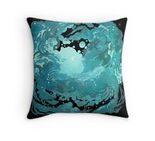 Rainy evening sky Throw Pillow