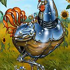 'Spring Chickens with Offspring by Shane  Gehlert