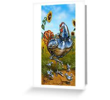 'Spring Chickens with Offspring Greeting Card