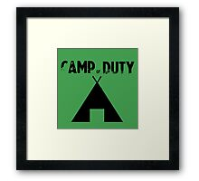 Camp of Duty Framed Print
