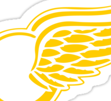 Detriot Gold Wings Away Sticker