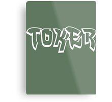 """Toker"" Marijuana Metal Print"