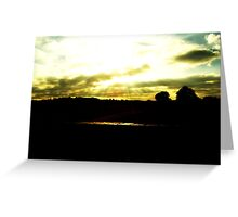 Light shining through the clouds  Greeting Card