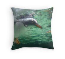 Mr Penguin Throw Pillow