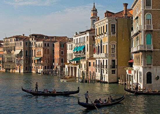 Gondolas and Palaces, Grand Canal, Venice, Italy by Petr Svarc