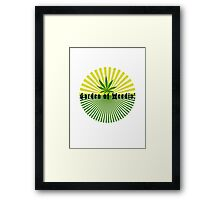 Funny Marijuana Framed Print
