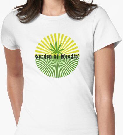Funny Marijuana Womens Fitted T-Shirt