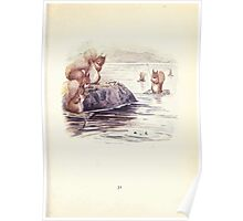 The Tale of Squirrel Nutkin Beatrix Potter 1903 0033 Caught Seven Fat Minnows Fishing Poster