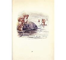 The Tale of Squirrel Nutkin Beatrix Potter 1903 0033 Caught Seven Fat Minnows Fishing Photographic Print
