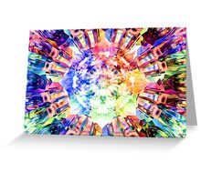 Spectrum Fractal Greeting Card