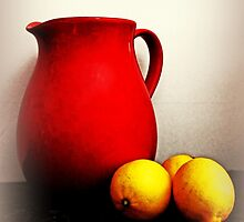 Jug And Lemons On A kitchen Bench by Evita