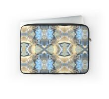 Blue And Beige Bands Laptop Sleeve