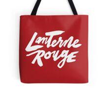 Lanterne Rouge : White Script Tote Bag