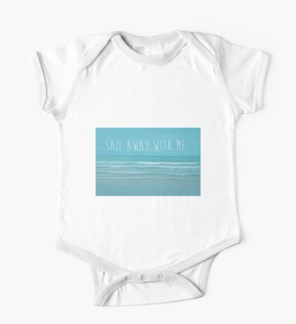 Sail Away With Me One Piece - Short Sleeve