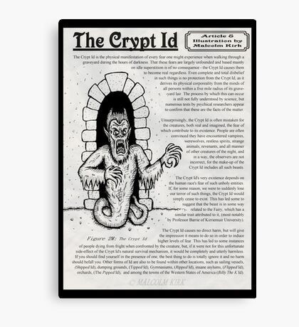 The Crypt Id Canvas Print