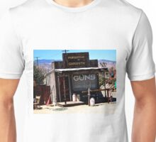GUNS, GUNSMITH PIONEER TOWN, CALIFORNIA Unisex T-Shirt