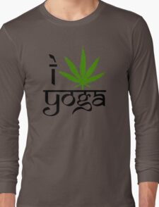 I Marijuana Yoga Long Sleeve T-Shirt