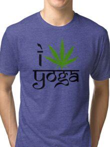 I Marijuana Yoga Tri-blend T-Shirt