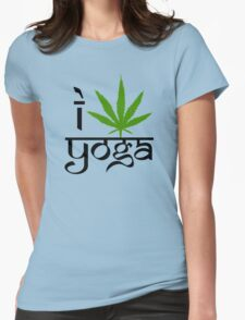 I Marijuana Yoga Womens Fitted T-Shirt