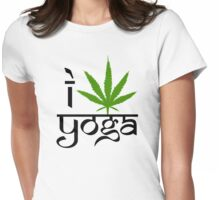 I Marijuana Yoga Womens Fitted T-Shirt