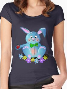 Cute Blue Bunny Tee Women's Fitted Scoop T-Shirt