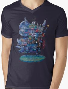 Fandom Moving Castle Mens V-Neck T-Shirt