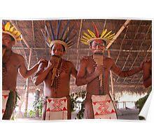 Amazon Negro River Indians Ritual Poster