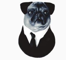 Pug in a suit by alfie-burt
