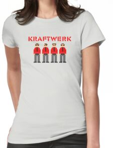 Kraftwerk 8-bit Womens Fitted T-Shirt