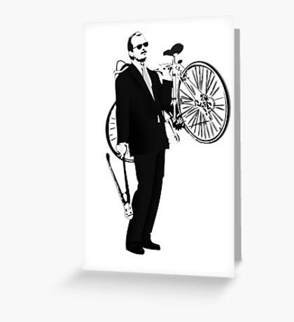 Bike Thief Greeting Card