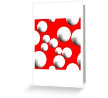 White Bubble Orbs - Various BG Colours Greeting Card