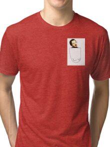 Retarded Jimmy in pocket Tri-blend T-Shirt