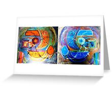 Stereoscopic delusion Greeting Card