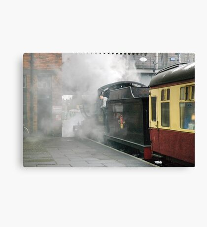 The 14:15 to Leicester at Loughborough, UK Canvas Print