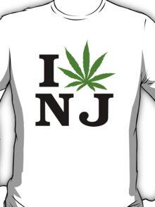 I Love New Jersey Marijuana Cannabis Weed T-Shirt T-Shirt
