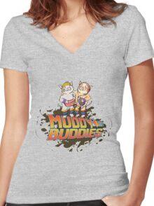 Muddy Buddies Women's Fitted V-Neck T-Shirt